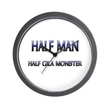 Half Man Half Gila Monster Wall Clock