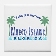 Marco Island Happy Place - Tile Coaster