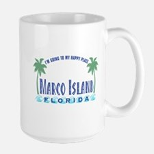 Marco Island Happy Place - Large Mug