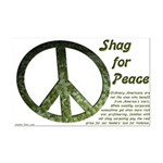 Shag for Peace poster (11x17 inch)