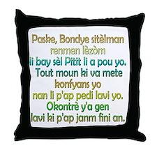 John 3:16 Haitian Creole Throw Pillow