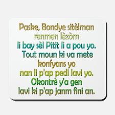 John 3:16 Haitian Creole Mousepad