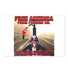 anti foriegn oil Postcards (Package of 8)