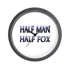 Half Man Half Fox Wall Clock