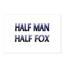Half Man Half Fox Postcards (Package of 8)