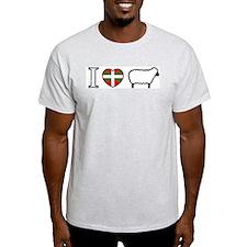I <heart> Sheep Ash Grey T-Shirt