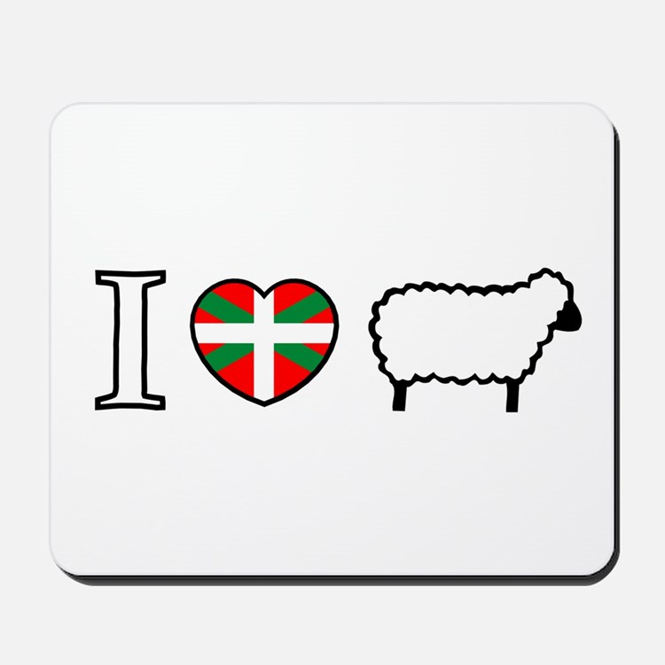 I <heart> Sheep Mousepad
