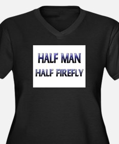 Half Man Half Firefly Women's Plus Size V-Neck Dar