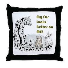 my fur Throw Pillow