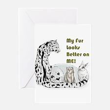 my fur Greeting Card