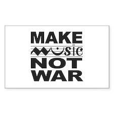Make Music Not War Rectangle Decal