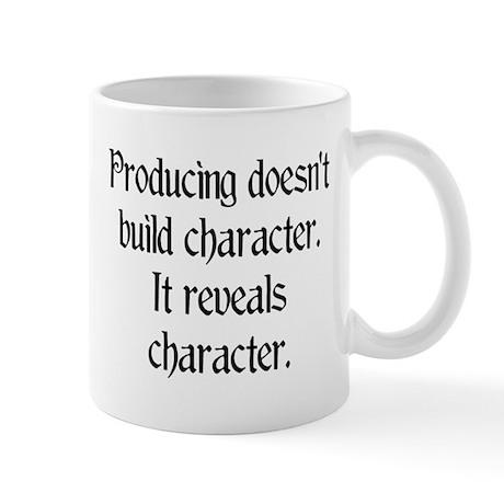 Producing reveals character Mug