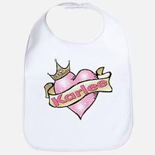 Personalized Princess Karlee Bib