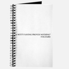 """A Witty Saying"" Journal"
