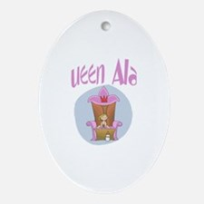 Baby Queen Alana1 Oval Ornament
