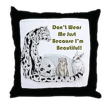 anti fur Throw Pillow