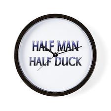 Half Man Half Duck Wall Clock
