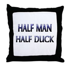 Half Man Half Duck Throw Pillow
