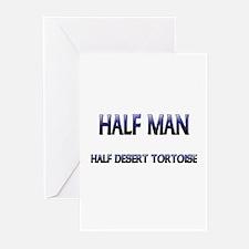 Half Man Half Desert Tortoise Greeting Cards (Pk o