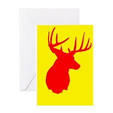 Buck Red & Yellow Greeting Card