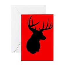Buck Black Red Greeting Card