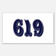 619 Rectangle Decal