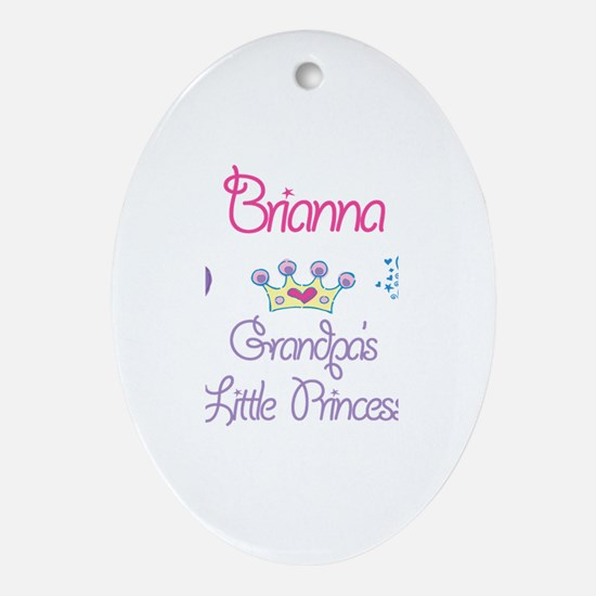 Grandpa's Princess Briana Oval Ornament