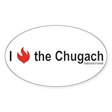 I Burn the Chugach National Forest oval sticker