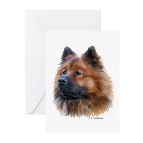Eurasier Greeting Cards (Pk of 10)