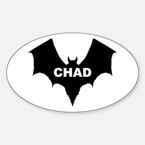 BLACK BAT CHAD Oval Decal