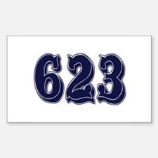 623 Rectangle Decal