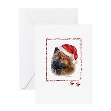 Christmas Eurasier Greeting Card