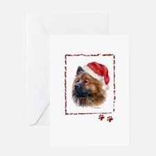 Christmas Eurasier Greeting Card