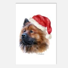 Christmas Eurasier Postcards (Package of 8)