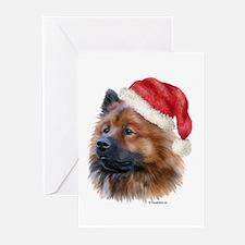 Christmas Eurasier Greeting Cards (Pk of 10)