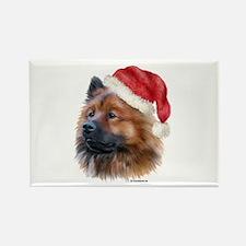 Christmas Eurasier Rectangle Magnet