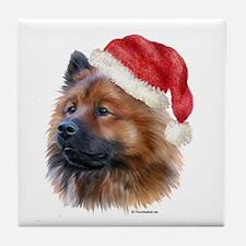 Christmas Eurasier Tile Coaster