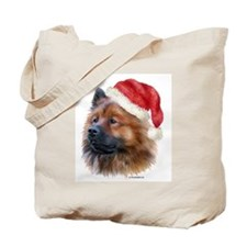 Christmas Eurasier Tote Bag
