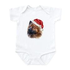 Christmas Eurasier Infant Bodysuit