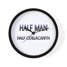 Half Man Half Coelacanth Wall Clock