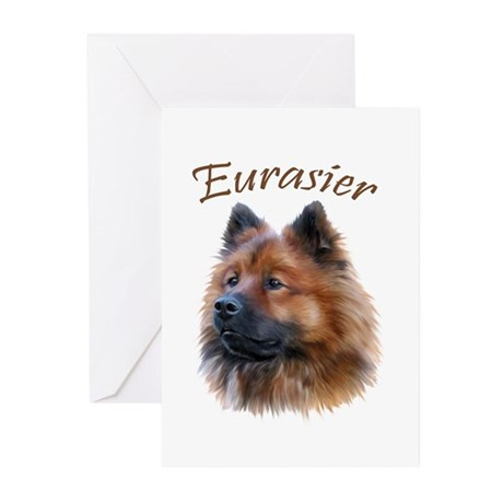 Eurasier Greeting Cards (Pk of 10)