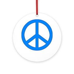 Blue Peace Symbol Keepsake (Round)