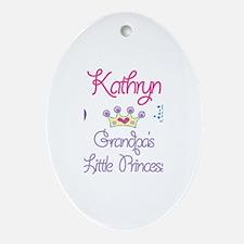 Grandpa's Princess Kathryn Oval Ornament