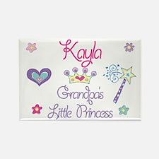 Grandpa's Princess Kayla Rectangle Magnet
