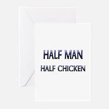Half Man Half Chicken Greeting Cards (Pk of 10)