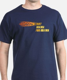 Hot Mama For Obama T-Shirt (Dark)