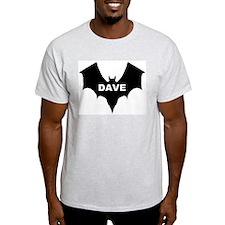 BLACK BAT DAVE Ash Grey T-Shirt