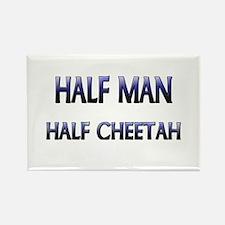 Half Man Half Cheetah Rectangle Magnet