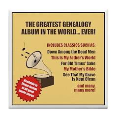 Genealogy Album Tile Coaster