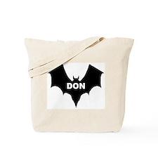 BLACK BAT DON Tote Bag